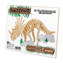Styracosaurus Professor Puzzle fa építő szett, standard