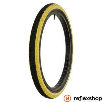 "QU-AX gumi 20"" x 1.95 fekete/sárga"