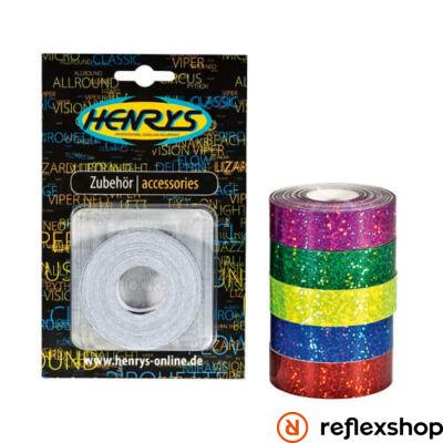 Henry's Glitter dekorszalag, sárga