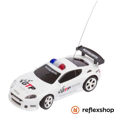 RC Police Mini Racer fehér távirányítós versenyautó