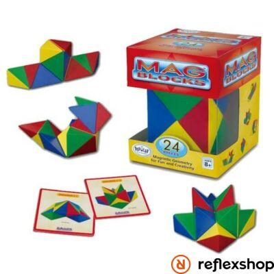Popular Playthings MAG Blocks logikai játék 24 darabos készlet