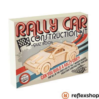 Rally autó Professor Puzzle fa építő szett