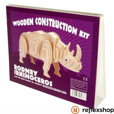 Rodney Rinocérosz Professor Puzzle fa építő szett