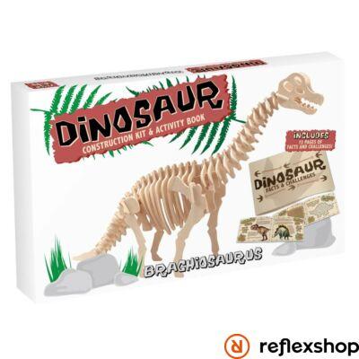 Brachiosaurus Professor Puzzle fa építő szett nagy