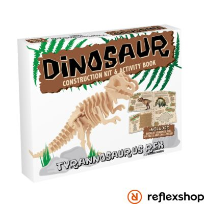 T-Rex fa Professor Puzzle építő szett közepes