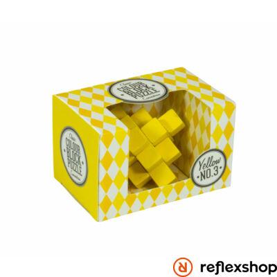 PP színes blokk puzzle sárga