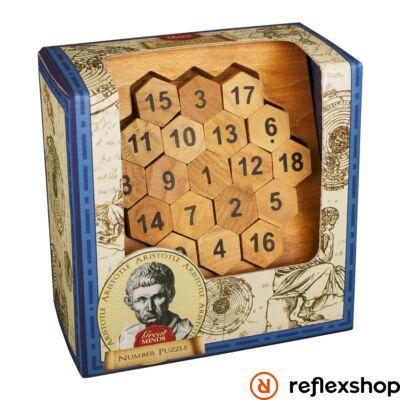 Nagy Elmék - Arisztotelész Számok Professor Puzzle ördöglakat