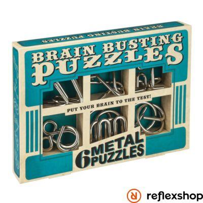 Brainbusting 6db-os Professor Puzzle fém ördöglakat szett
