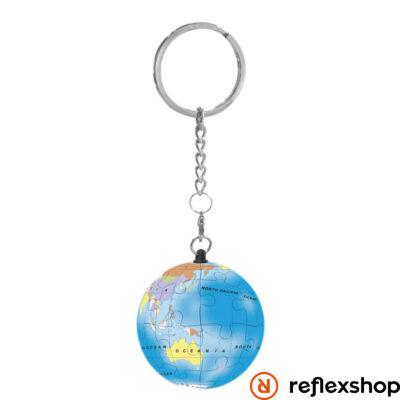 RG Puzzle gömb kulcstartó - földgömb kék