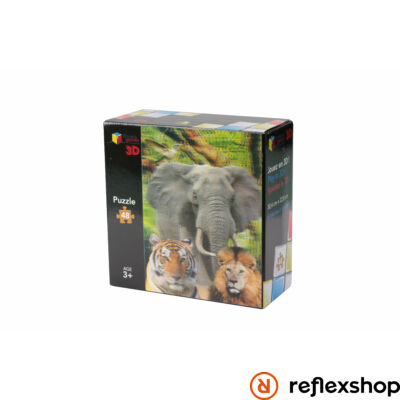 Puzzle 3D - 48 pieces - The Animals